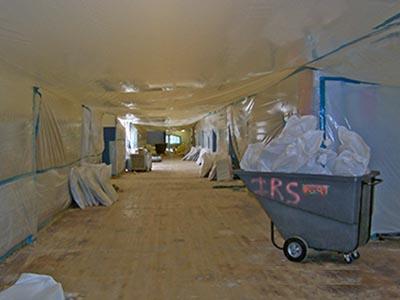 High School Hallway Floor Removal